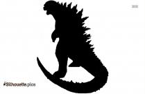 Godzilla In Color Silhouette Image