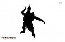 Godzilla Destroyah Silhouette Drawing