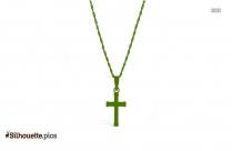 Cross Necklace Silhouette Clip Art