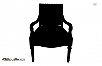 Gold Leaf Framed Chair Silhouette