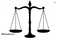 Golden Legal Scales Free Clip Art Silhouette