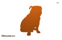 Black And Tan Coonhound Dog Silhouette