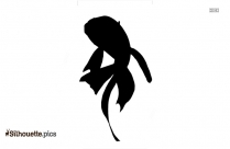 Black And White Goldfish Silhouette
