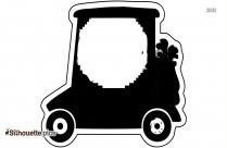 Golf Cart Photo Silhouette