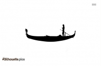 Small Row Boat Silhouette Background
