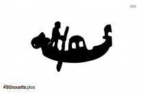 Gondola Boat Silhouette Free Vector Art