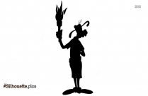 Goofy Olympic Torch Silhouette Picture
