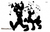 Cartoon Bear Silhouette Background