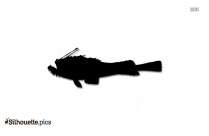 Goosefish Silhouette Illustration