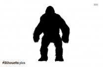 Cartoon Gorilla Silhouette Vector And Graphics