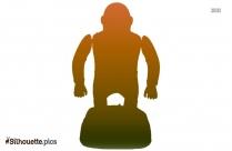Gorilla Drawing Symbol Silhouette
