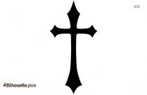 Cross Gothic Tattoo Stick Silhouette