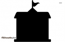 American Government Building Silhouette Art