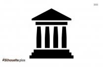 Government Icon Silhouette Vector
