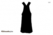 Gown For Girls Vector Silhouette
