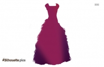 Long Dress Silhouette Art