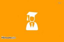 Graduate Icon Silhouette