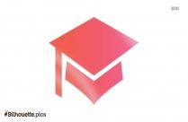 Graduate Icon Silhouette Free Vector Art