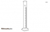 Graduated Cylinder Silhouette Illustration