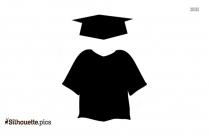 Free Clip Art Graduation Cap Gown Silhouette