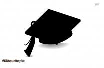 Graduation Cap Silhouette Free Vector Art