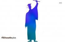 Graduation Clip Art, Graduate Student Silhouette
