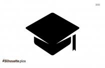 Graduation Hat Symbol Silhouette