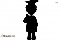 Graduation Kid Clipart Silhouette