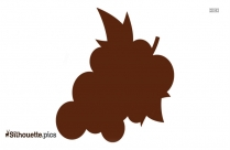 Grape Emoji Silhouette Illustration