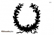 Grape Garland Silhouette,, Vine Garland Clipart Symbol