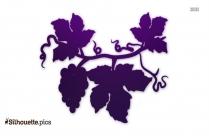 Grape Vine Leaf Silhouette Clipart