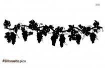 Grapes Silhouette Illustration
