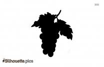 Grapes Vine Clipart Silhouette