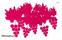 Grape Vine Vector Silhouette