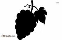 Cartoon Grapes Silhouette Vector Drawing