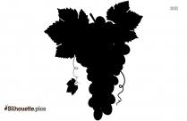 Grapes Silhouette Icon