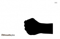 Pointing Finger Silhouette Icon