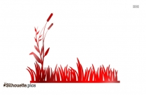 Black Tall Grass Plants Silhouette Image