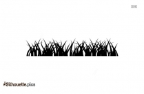 Dry Grass Silhouette Vector And Graphics