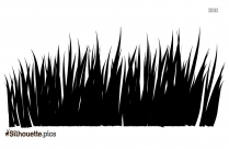 Grass Field Drawing Silhouette Image