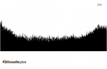 Grass Field Silhouette Image, Vector Art