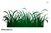Grass Field Silhouette Vector Image