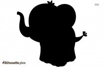 Cartoon Cute Elephant Silhouette Picture