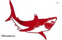 Stunning Shark And Man Silhouette Image