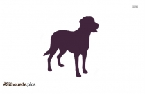 Argentino Dog Breed Silhouette