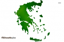 Greece Map Clipart Silhouette