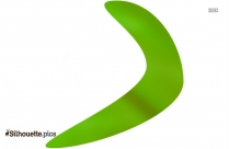 Green Boomerang Clipart Silhouette