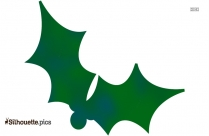 Green Christmas Holly Leaves Clip Art Silhouette