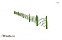 Green Fence Silhouette