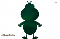 Green Frog Cartoon Silhouette